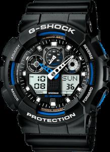 Часы Casio G-shock GA-100A (Черно-синие)