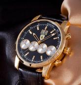 Часы Ferrari Maranello кварц (Черный + Золото)