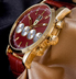 Часы Ferrari Maranello кварц (Красный + Золото)