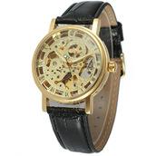Механические часы Скелетоны Winner Classic Gold
