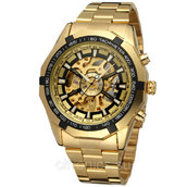 Механические часы Скелетоны Winner Luxury Gold