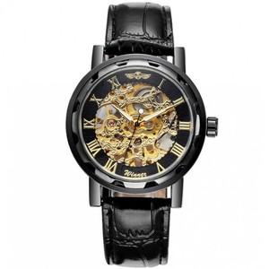 Механические часы Скелетоны Winner (Черный/Золото)